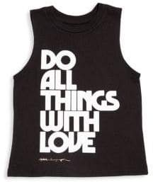 Spiritual Gangster Toddler's, Little Girl's & Girl's Do All Things With Love Tank Top