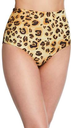 Mara Hoffman Lydia High-Waist Cheetah-Print Bikini Bottoms