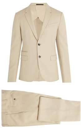 Valentino Notch Lapel Wool Suit - Mens - Beige