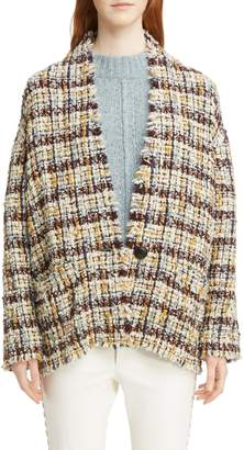 Isabel Marant Wool Blend Tweed Coat