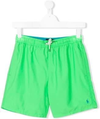 Ralph Lauren TEEN logo embroidered swim shorts