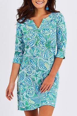 Hatley NEW Womens Short Dresses Lucy Peplum Sleeve Dress ShellPrint