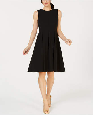 Kasper Crew-Neck Sleeveless Fit & Flare Dress