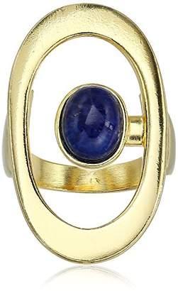 Ben-Amun Jewelry Sculpture Garden Gold-Plated Oval Ring