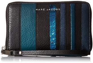 Marc Jacobs Wingman Stripes Zip Phone Wristlet