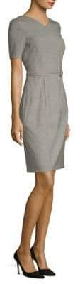 BOSS Davila V-neck Wool Dress