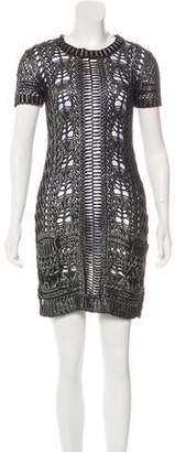Philipp Plein Knit Mini Dress