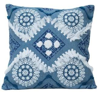 Foreside Home and Garden Hand Woven Circle Pillow
