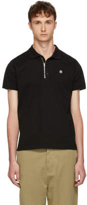 Diesel Black Zip Polo