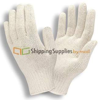 ShippingSuppliesByMail White String Knit Polyester/Cotton Men's Work Gloves Pack of 228 Pairs