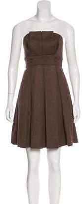 Black Halo Strapless Mini Dress