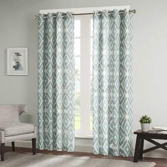Zipcode Design Annamaria Light Ikat Semi-Sheer Grommet Single Curtain Panel
