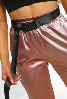 Pink Boutique D For Dangerous Black Fabric Buckle Belt