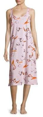 Lord & Taylor Floral-Print Long Cotton Chemise