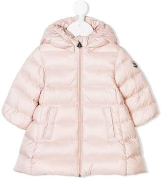 Moncler flared padded hooded jacket