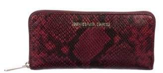 Michael Kors Embossed Continental Wallet