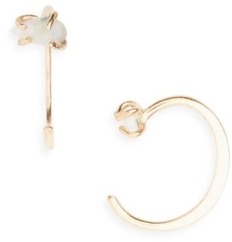 Women's Melissa Joy Manning Opal Hug Hoop Earrings $250 thestylecure.com
