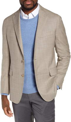 Hickey Freeman Classic B Fit Check Wool & Silk Sport Coat