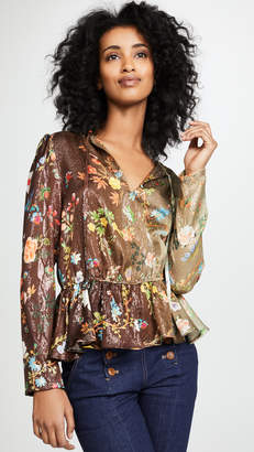 Cynthia Rowley Printed Silk Top