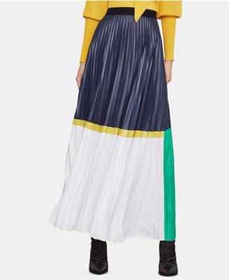 BCBGMAXAZRIA (ビーシービージーマックスアズリア) - Bcbgmaxazria Pleated Colorblocked Skirt