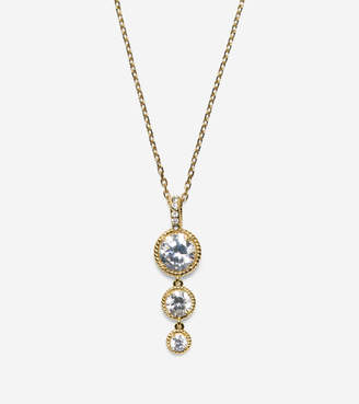 Cole Haan Brilliant Cubic Zirconia Delicate Linear Necklace