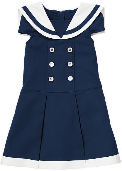 Gymboree Pleated Pique Sailor Dress