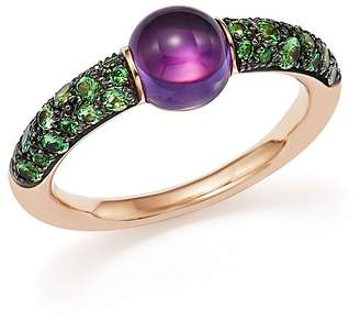 Pomellato M'ama Non M'ama Ring with Amethyst and Tsavorite in 18K Rose Gold $2,500 thestylecure.com