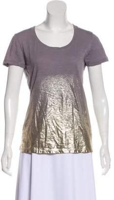 Monrow Metallic Ombré T-Shirt w/ Tags