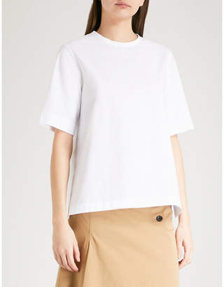 Joseph Button-back cotton-poplin blouse