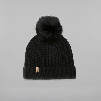 Mackage DORIS cashmere knit hat with fur pompom