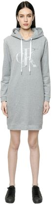 True Icon Hooded Cotton Sweatshirt Dress $160 thestylecure.com