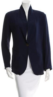 Jean Paul Gaultier Silk Oversized Blazer $110 thestylecure.com