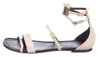 Saint Laurent Leather and Metal Sandals