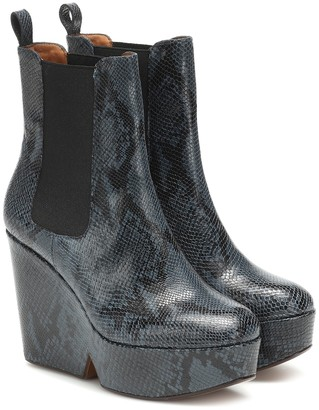 Clergerie Exclusive to Mytheresa Beatrice snake-effect ankle boots