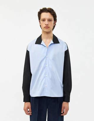 Goetze Dylan Shirt in Light Blue Pinstripe and Black