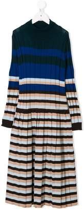 Marni striped knitted dress