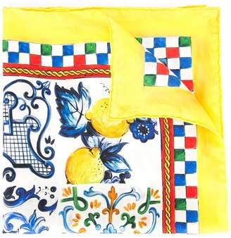Dolce & Gabbana printed scarf