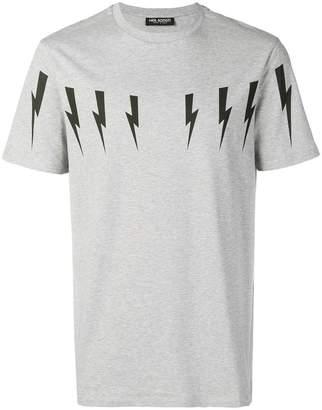 Neil Barrett thunder print T-shirt