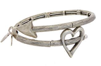 Alex and Ani Valentine's Day Stainless Steel Wrap Bracelet