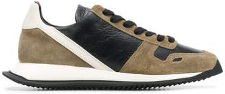 Rick Owens panelled lace-up sneakers