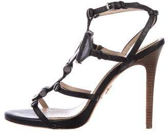 Pour La Victoire Leather High Heel Sandals