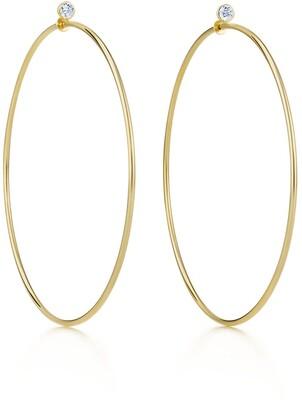 920f68da6 Tiffany & Co. Elsa Peretti& Diamond Hoop earrings in 18k gold with  diamonds, large