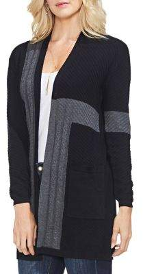 Vince Camuto Colorblock Ribbed Cardigan