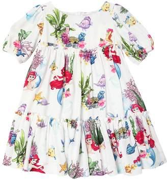 MonnaLisa Mermaid Print Viscose Dress