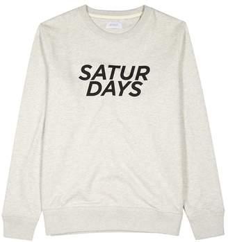 Saturdays NYC Bowery Gotham Italic Cotton Sweatshirt