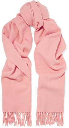 Acne Studios Canada Narrow Fringed Wool Scarf - Pink