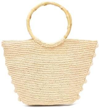 Sensi Studio - Woven Toquilla Straw Basket Bag - Womens - Brown