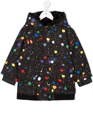 Stella McCartney paint splatter padded coat