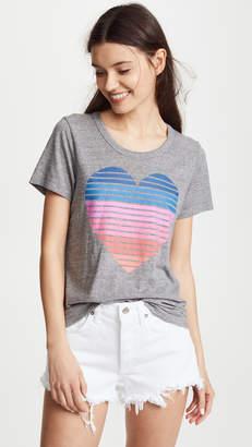 Chaser Stripe Heart Tee