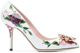 Dolce & Gabbana Bellucci peony print pumps